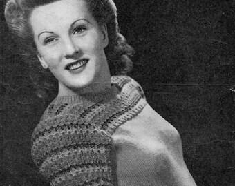 Bestway Anne Crawfords Jumper Vintage knitting Pattern pdf