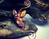 ON SALE Ear Cuff Autumn Cornucopia, No Piercing, Fairy Jewelry, Fantasy Vine Wrap