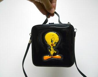 Tweety Bird . 90s Looney Tunes small square shoulder bag