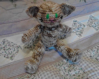 6.5in Brown Variegated Kitty toy
