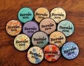 THREE Bernie Sanders for President 2016 - 1.25-inch buttons - by Via Delia