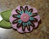 Felt Flower Pin Brooch