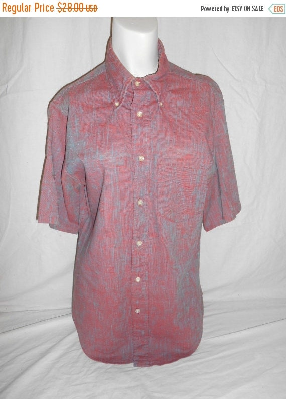 vintage clothing mens 40s 50s button up by ateliervintageshop