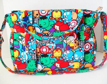 Marvel Diaper Bag - Super Hero Diaper Bag - Diaper Bag - Marvel - Super Hero - Messenger Bag - Marvel Bag
