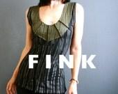 Reason to Believe - iheartfink Handmade Hand Printed Womens Deep Plunge V Neck Mixed Metallic Art Print Sleeveless Jersey Top