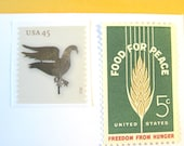 Rustic Postage Stamps Unused, Weathervane Stamps, Wheat, Folk Art Stamps, Mail 10 Letters Cards RSVPs at 1 oz, 49 cent rustic postage stamps