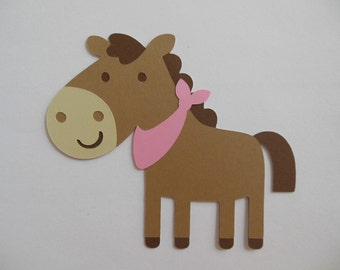 Farm Animal Cutouts - Horse - Birthday Party Decoration - Baby Shower Decorations - Set of 1
