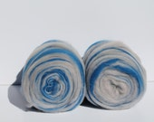 Merino wool self striping center pull roving bump. 2 bumpsTons of color changes Weighs 11oz. Free Ship SALE