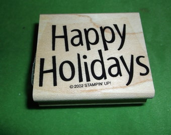 Happy Holidays Rubber Stamp Stampin Up