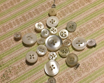 Vintage Button Snowflake Ornament