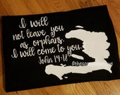 The Mission Haiti I will not leave you as orphans fundraiser John 14:18 shirt Haiti Relief tshirt charity themissionhaiti
