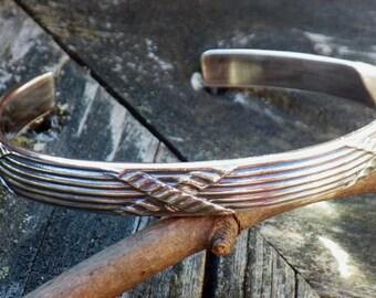 Criss Cross Sterling silver cuff bracelet wide sterling silver bracelet wide cuff thick cuff criss cross bracelet