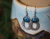 CLEARANCE Drops of Rain Earrings - Silver with Blue Sodalite Gemstone - Teardrop Jewelry, Yugen Wild Heart, Natural, Boho, Statement, Dangle
