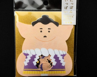 Sumo Wrestler  Stickers  - Chiyogami Paper Sticker Flakes - 50 Stickers  (S93)