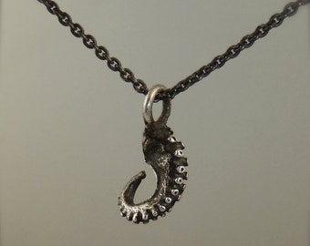 VDay SALE SALE-  Tentacle Pendant, Octopus Pendant, Sterling Silver OctopusME, Kraken Necklace - Petite Octopus Necklace
