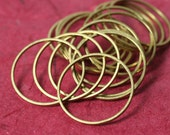Circular link O ring connector 24mm in diameter, 1mm (18G) thick, solid brass (item ID XMFA00102)