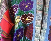 Vtg Guatemalan Patchwork and Embroidered Jacket