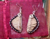 Petoskey Sterling Silver Wire Wrapped Earrings