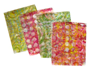 Original Handmade Gelli Print Collage Artist Papers for Mixed Media and Art Journaling #165