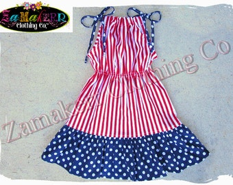 2T 24 month 3T 3 ONLY Clearance Boutique Clothing Girl 4th of July Summer Halter Dress Red White Blue Birthday Size 24 month 2 2T 3 3T