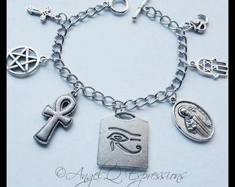 Supernatural Protection Symbols SPN Jewelry Charm Bracelet