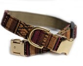 Tribal Dog Collar - Aztec Collar, Engraving optional, Personalized Collar - Muskogee Woven, Personalization Available