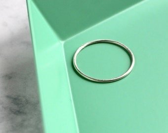 Skinny Stacking Ring - Sterling Silver | simple silver ring | midi ring | knuckle ring | thin ring | small silver ring | handmade ring