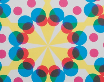 Wrapping Paper -- Kaleidoscopic Patterned Paper -- pattern 1