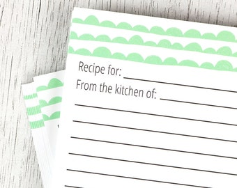 Mint Scallop Recipe Cards