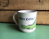 Vintage Sandra Boynton Dragon Coffee Mug, More Coffee, Coffee Cup, Ceramic Mug, Mug Lover