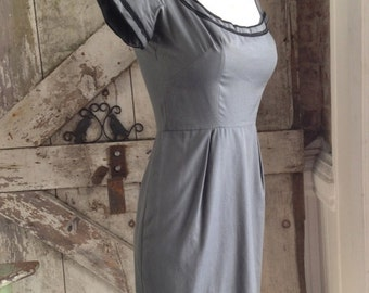 1950s wiggle dress 50s hourglass dress size x small Vintage dress Maggi Stover mad men dress