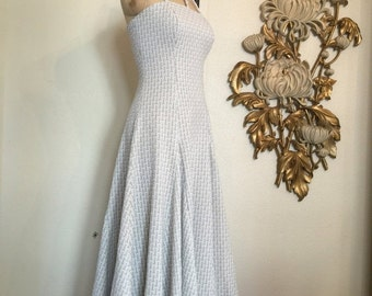 Fall sale 1960s gown white and silver 60s dress holiday dress vintage dress maxi dress evening gown 1960s formal dress