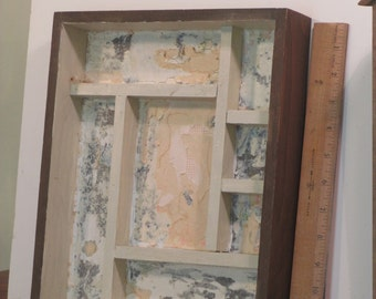 Wooden shadow box used
