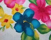 Hawaiian LINEN LEI cotton fabric rectangle table cloth covering