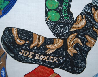 Rare JOE BOXER mens socks cotton novelty fabric
