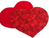 Valenting Heart Placemats, Set of 2 Red Valentine Placemats