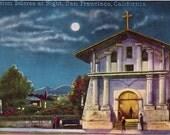 2 Vintage Mission Dolores Postcards - San Francisco circa 1910
