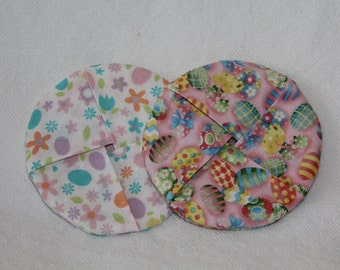 Easter Fabric Wine Coasters set of 2