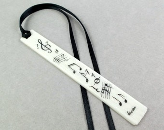 Hand Etched, Scrimshaw Bookmark, Piano Key Bookmark, Acrylic Piano Key, Notes Etcetera, Books Reading