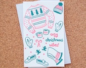 Cozy Christmas Vibes Letterpress Card // 1553