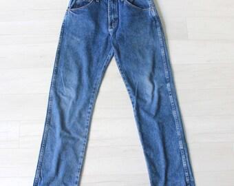 SALE |  vintage 1980s ruster boyfriend jeans | vtg 80s high waist jeans | medium / large