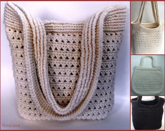 Ribbed Handbag ~ Crochet Pattern