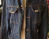 Vintage unisex 1980's jean jacket size S (mens) M (women)