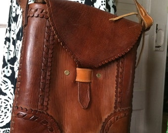 Amazing handmade leather purse/shoulder bag