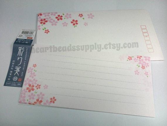 Sakura Cherry Blossom Letter Writing Set By HeartBeadsSupply