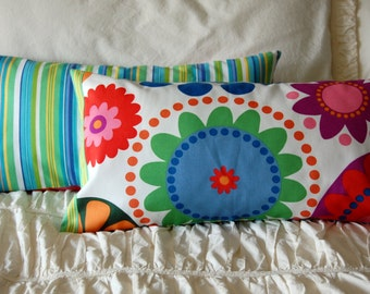 Althea Modern Floral Pillow / bold modern pillow / bench lumbar pillow / teen dorm room bedding / abstract home decor / bohemian pillows