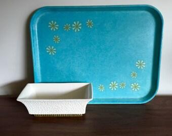 Vintage Fiberglass Cafeteria Tray