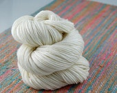 "Shiny Happy- ""NAKED"" (undyed) yarn- 435 yards 100 grams  50/50 superwash merino and silk"