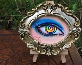 Ooak Candy Eye Art Copic Art Eye Art Framed Art Original Art Eye Candy