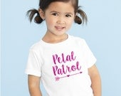 Petal Patrol Glitter shirt flower girl tshirt  tee flower girl shirt